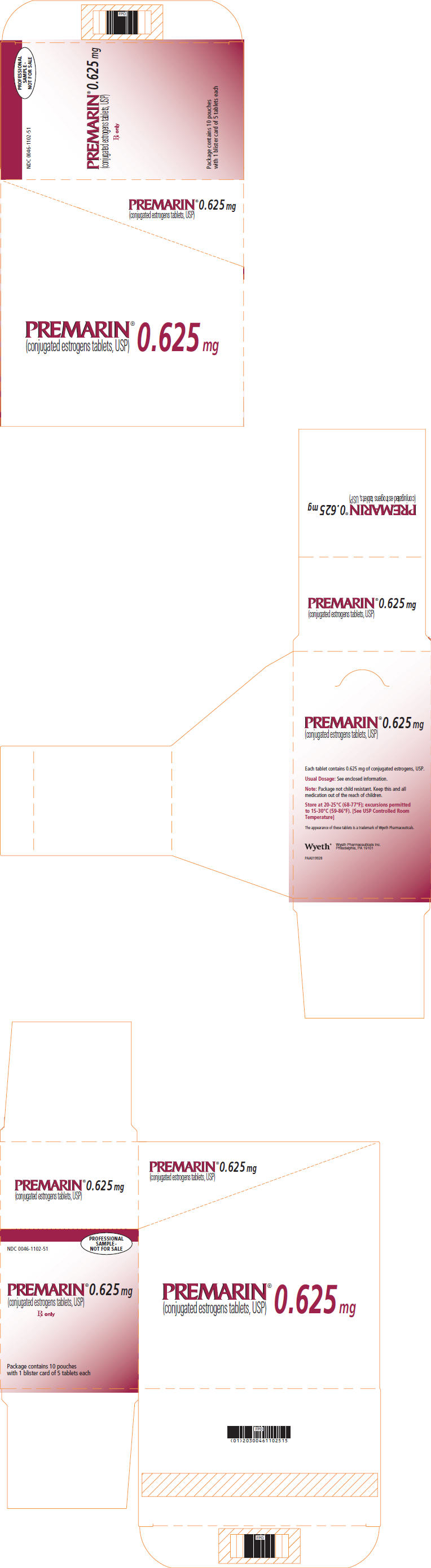 PRINCIPAL DISPLAY PANEL - 0.625 MG -CARTON