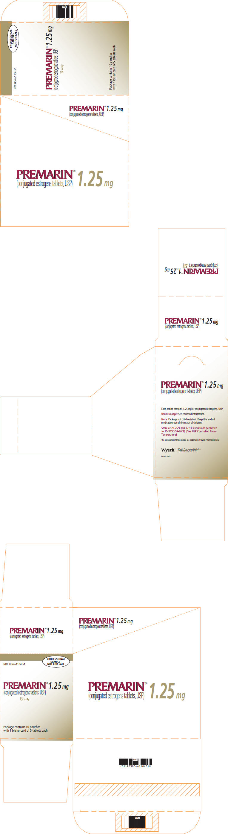 PRINCIPAL DISPLAY PANEL - 1.25 MG - CARTON
